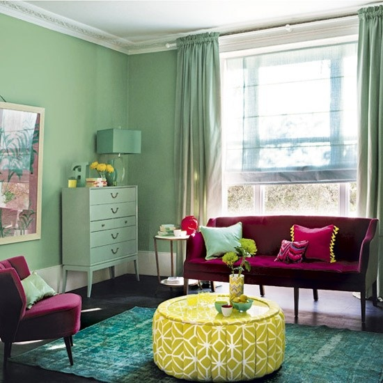 Pistachio & Raspberry Living Room
