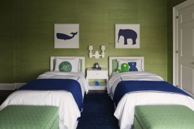 Green and Navy Kid's Bedroom
