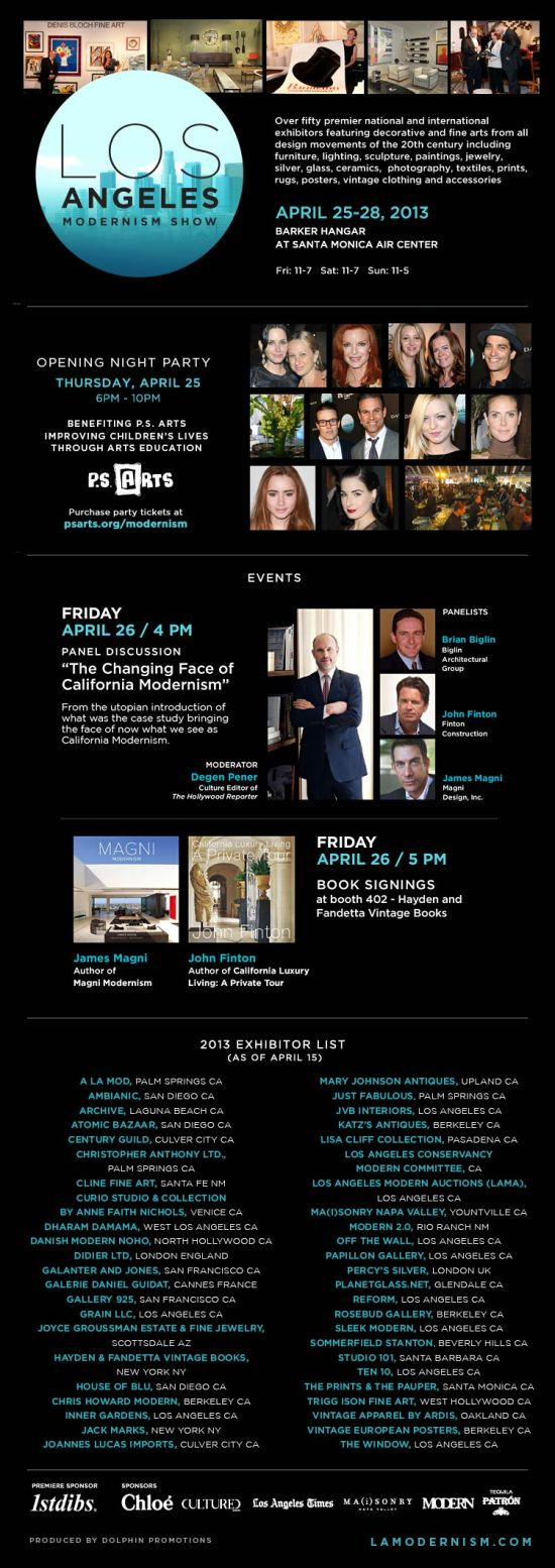LA Modernism Show 2013 evite with lecture info and exhibitor list-1