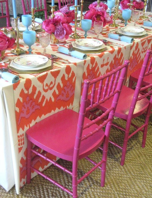 Hot Pink Table Scape