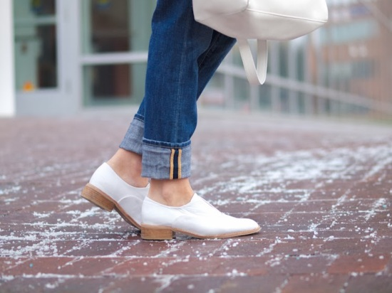 White shoes and jeans