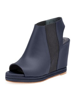 Blue and Black Balenciaga Wedges