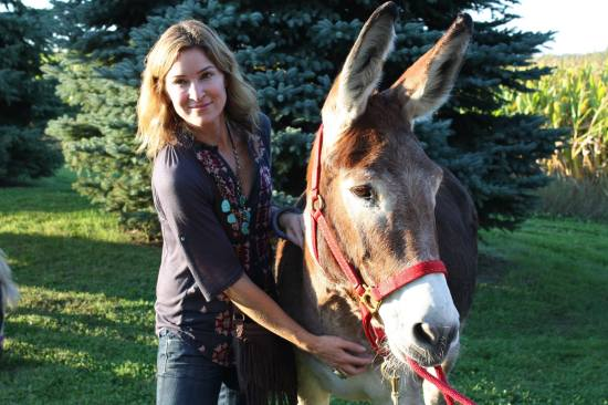 Sister Darbie and Casey's Safe Haven resident donkey Petunia